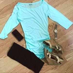 {tunic} • beautiful aqua thin tunic from express