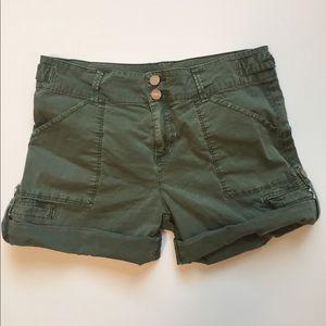 Sanctuary Military Olive Shorts