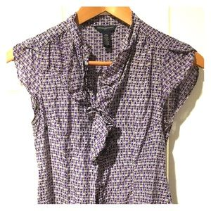 Banana Republic silk blend patterned blouse XS