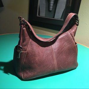 Fossil Brown Leather Shoulder Handbag