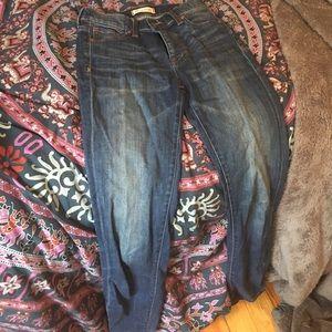 High waisted blue Madewell skinny jeans, size 26
