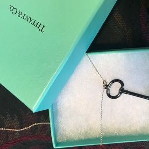 Tiffany & Co- Black Titanium Oval Key Necklace