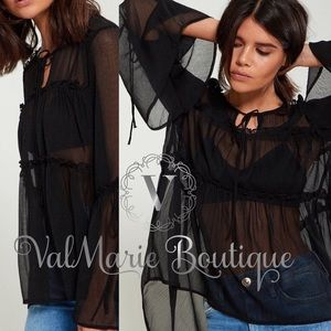 GORGEOUS sheer chiffon top