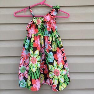 Carter's girls sleeveless dress with flowers