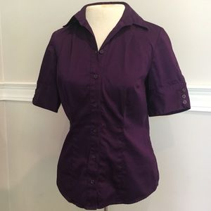 Purple button down shirt from The Limited Sz.S