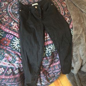 """High waisted 10"""" black skinny jeans Madewell"""