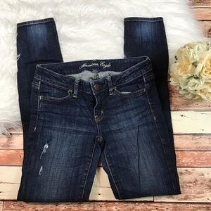 American eagle ripped knee jeggings jeans
