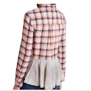 Anthropologie Holding Horses Plaid Flannel Shirt