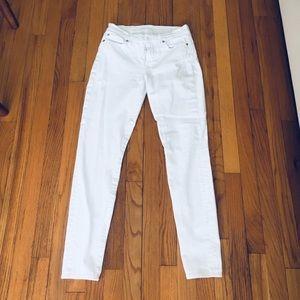 7 For All Mankind - white denim size 27