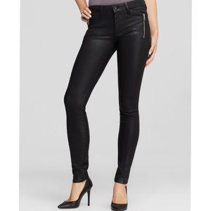 Joes jeans skinny ankle in coated black