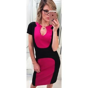 Black Halo Gypsy Rose Sheath Color Block Dress