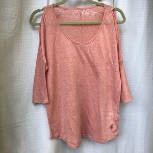Salmon Pink Jessica Simpson Oversized Shirt