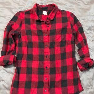 J. Crew buffalo plaid shirt XS