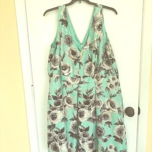 Beautiful floral mint green, Greg dress