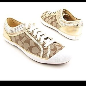 Gold coach zorra tennis sneakers