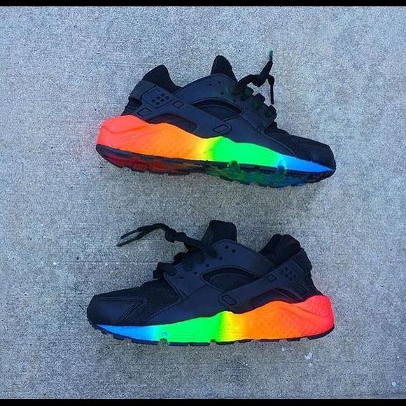 rainbow huaraches sort good cb028 204ba