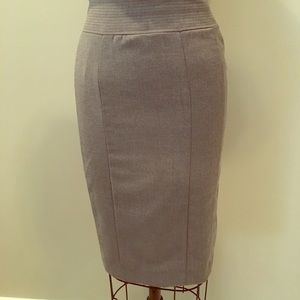 H&M Gray Pencil Skirt