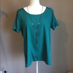 Green Blouse short sleeve