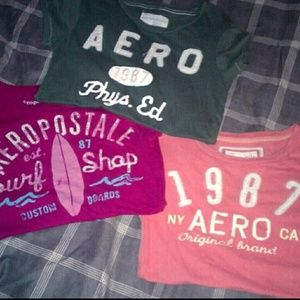 *AEROPOSTALE JEANS&3-TOPS:MED*JEANS:3/4~GREAT DEAL