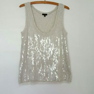 J.CREW COLLECTION tissue sequin tank