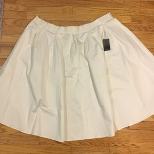 Eloquii White Pleated Midi Skirt