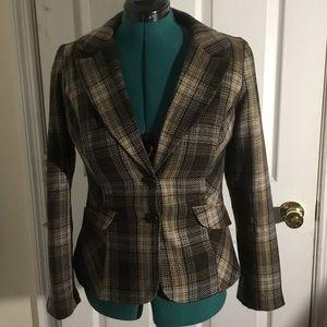 Brown plaid jacket