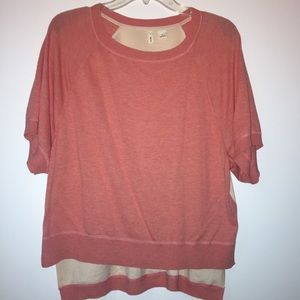 Anthro Knit and Silk Tshirt