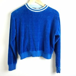 Vintage Cropped Velour Sweatshirt