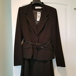 Calvin Klein belted suit