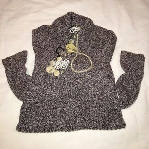 Tunic style/turtleneck sweater size M