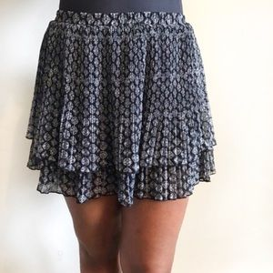 {Urban Outfitters} Grey and black Flowy Skirt