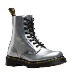 Silver Dr. Martens Pascal 8-Eye Boot