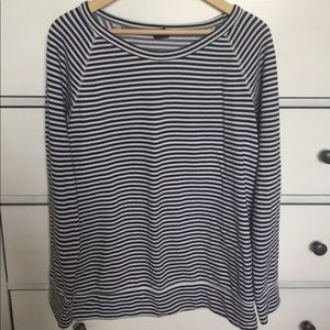 GAP navy and white stripe maternity sweatshirt