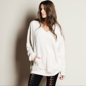 Oversized Super Soft Furry Hoodie Tunic