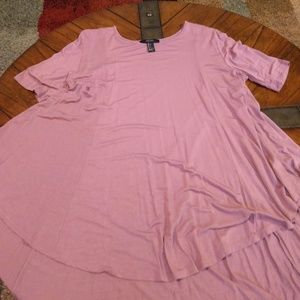 EUC Forever 21 deep rose tunic tee Size L