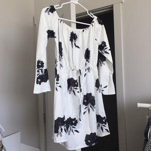 Dresses & Skirts - Simple Floral Pff Shoulder Dress