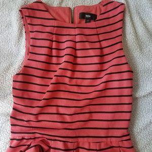 Mossimo Coral Stripe Dress