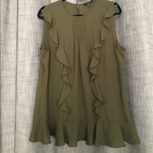 Banana Republic ruffle sleeveless top