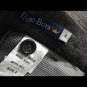d075479e2 Euro Boys Bottoms | European Boys Wool Tweed Skinny Dress Pants ...