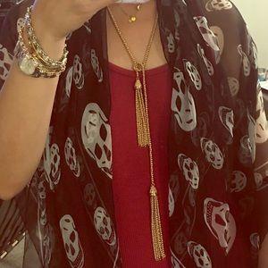💯% Authentic Karen Scott Cord & tassel Necklace