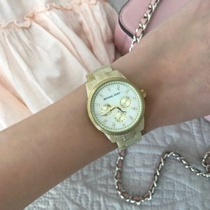 Michael Kors Gold Mother of Pearl Watch