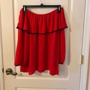 Vince Camuto Off the Shoulder Blouse Size XL