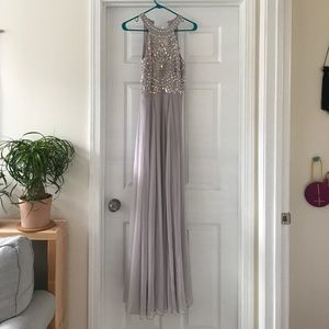 Asos Cutaway Armour Maxi Dress
