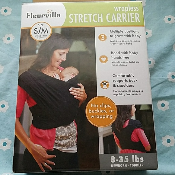 c23cb6a085d fleurville Other - Size S M wrapless stretch baby carrier