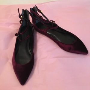 Burgundy Banana Republic Ballet flat shoes