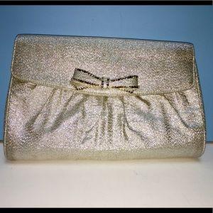 Joseph Silver Lamai evening bag - satin inside