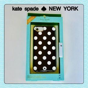 Kate Spade ♠️ iPhone Case NEW Black Dot 7 6 6s