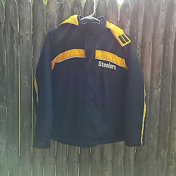 buy online 97ec8 0a40d Official Pittsburgh Steelers Kids size Large Jacke