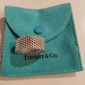 Tiffany Sommerset Mesh Ring Size 7