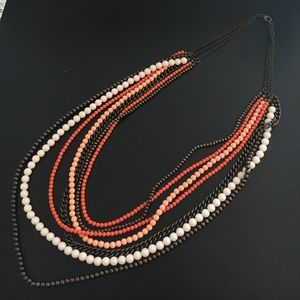 Premier Designs Coral Beaded Necklace